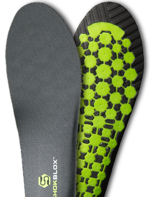 Shokblox Insoles with Impact Grid